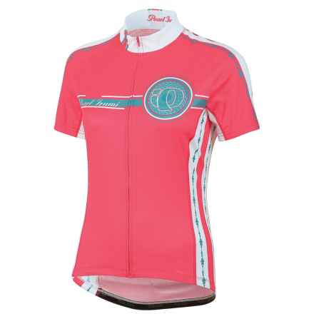 Pearl Izumi ELITE LTD Cycling Jersey - UPF 40+, Full Zip, Short Sleeve (For Women) in Pearl Paradise Pink - Closeouts