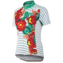Pearl Izumi Elite LTD Cycling Jersey - UPF 40+, Full Zip, Short Sleeve (For Women) in Peony Living Coral - Closeouts