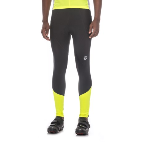 Pearl Izumi ELITE Podium Thermal Cycling Tights (For Men) in Black/Screaming Yellow