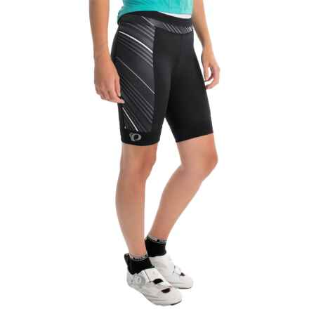 Pearl Izumi ELITE Pursuit Bike Shorts (For Women) in Black Stripe - Closeouts