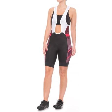 Pearl Izumi ELITE Pursuit Cycling Bib Shorts (For Women) in Black/Crimson Stripe