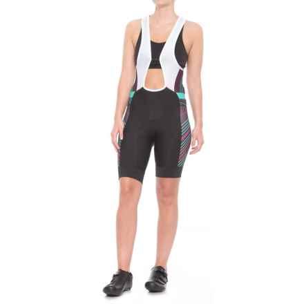 Pearl Izumi ELITE Pursuit Cycling Bib Shorts (For Women) in Black/Purple Wine Stripe - Closeouts