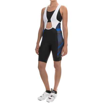 Pearl Izumi ELITE Pursuit Cycling Bib Shorts (For Women) in Black/Sky Blue Stripe - Closeouts