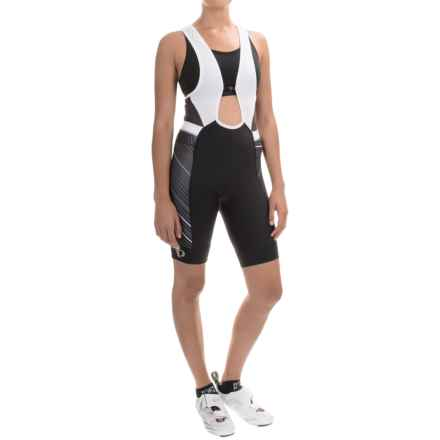 Pearl Izumi ELITE Pursuit Cycling Bib Shorts (For Women) in Black Stripe - Closeouts
