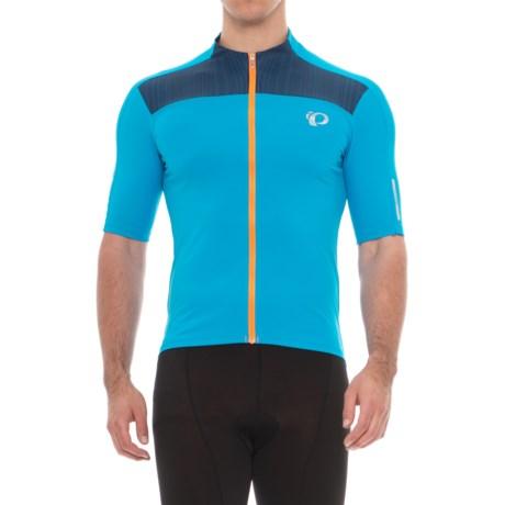 Pearl Izumi ELITE Pursuit Cycling Jersey - UPF 50+, Full Zip, Short Sleeve (For Men) in Bel Air Blue/Blue Depths Rush