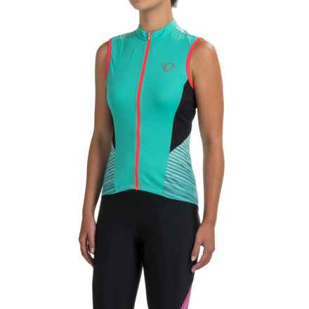 Pearl Izumi ELITE Pursuit Cycling Jersey - UPF 50+, Full Zip, Sleeveless (For Women) in Atlantis Rush - Closeouts