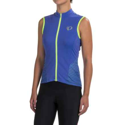 Pearl Izumi ELITE Pursuit Cycling Jersey - UPF 50+, Full Zip, Sleeveless (For Women) in Dazzling Blue Rush - Closeouts