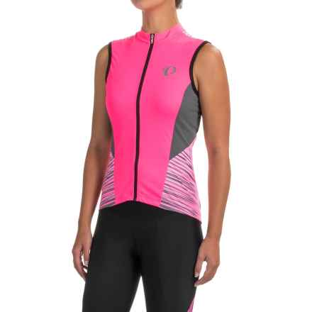 Pearl Izumi ELITE Pursuit Cycling Jersey - UPF 50+, Full Zip, Sleeveless (For Women) in Screaming Pink Rush - Closeouts