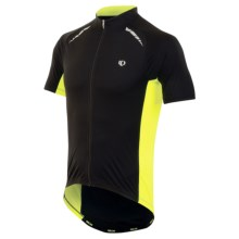 Pearl Izumi ELITE Pursuit Cycling Jersey - UPF 50+, Short Sleeve (For Men) in Black/Screaming Yellow - Closeouts