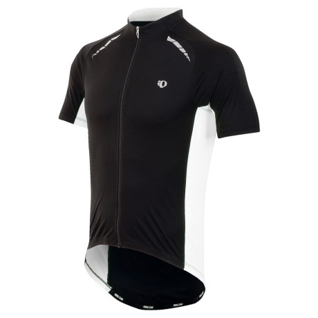 Pearl Izumi Elite Pursuit Cycling Jersey - UPF 50+, Short Sleeve (For Men) in Black/White
