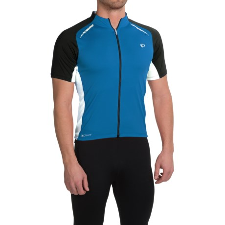 Pearl Izumi ELITE Pursuit Cycling Jersey - UPF 50+, Short Sleeve (For Men) in Mykonos Blue/White