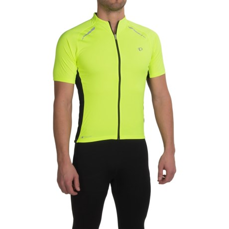 Pearl Izumi ELITE Pursuit Cycling Jersey - UPF 50+, Short Sleeve (For Men) in Screaming Yellow/Black