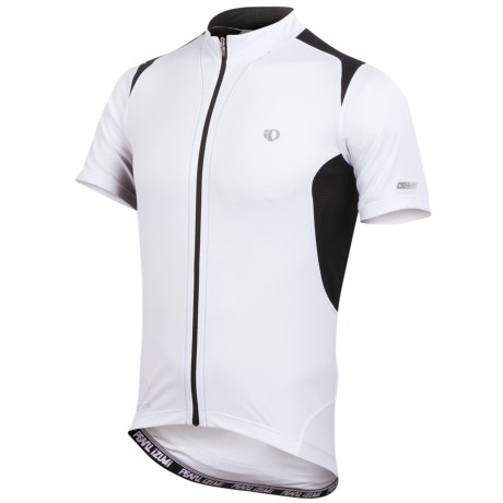 Pearl Izumi Elite Pursuit Cycling Jersey - UPF 50+, Short Sleeve (For Men) in Black/Screaming Yellow