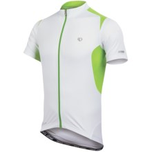 Pearl Izumi Elite Pursuit Cycling Jersey - UPF 50+, Short Sleeve (For Men) in White/Green Flash - Closeouts
