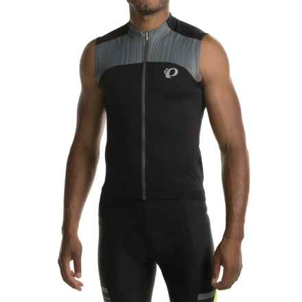 Pearl Izumi ELITE Pursuit Cycling Jersey - UPF 50+, Sleeveless (For Men) in Black/Smoked Pearl - Closeouts