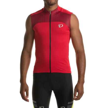 Pearl Izumi ELITE Pursuit Cycling Jersey - UPF 50+, Sleeveless (For Men) in True Red/Chili Pepper - Closeouts