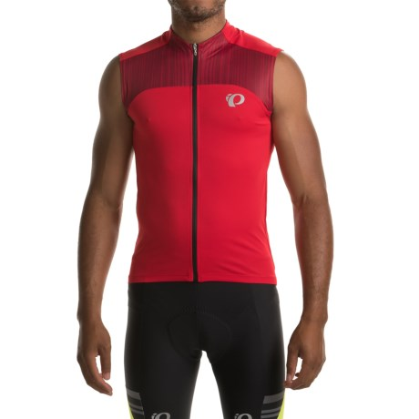 Pearl Izumi ELITE Pursuit Cycling Jersey - UPF 50+, Sleeveless (For Men) in True Red/Chili Pepper