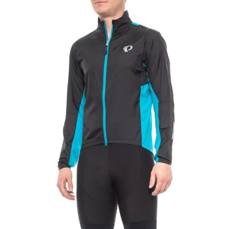 Pearl Izumi ELITE Pursuit Hybrid Cycling Jacket (For Men) in Black Atomic  Blue 12c2559e3