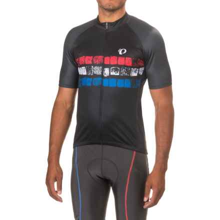 Pearl Izumi ELITE Pursuit LTD Cycling Jersey - Full Zip, Short Sleeve (For Men) in Cobbles Stripe - Closeouts