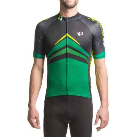 Pearl Izumi ELITE Pursuit LTD Cycling Jersey - Full Zip, Short Sleeve (For Men) in Delta Pepper Green - Closeouts