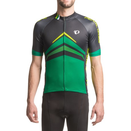 Pearl Izumi ELITE Pursuit LTD Cycling Jersey - Full Zip, Short Sleeve (For Men) in Delta Pepper Green