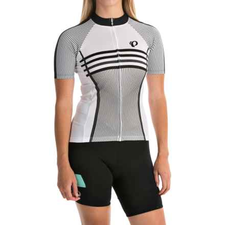 Pearl Izumi ELITE Pursuit LTD Cycling Jersey - Full Zip, Short Sleeve (For Women) in Classic Black/White - Closeouts