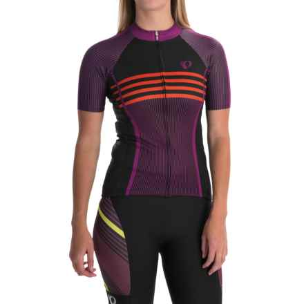 Pearl Izumi ELITE Pursuit LTD Cycling Jersey - Full Zip, Short Sleeve (For Women) in Classic Purple Wine - Closeouts
