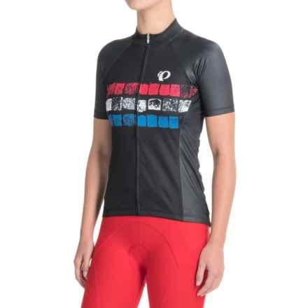 Pearl Izumi ELITE Pursuit LTD Cycling Jersey - Full Zip, Short Sleeve (For Women) in Cobbles Stripe - Closeouts