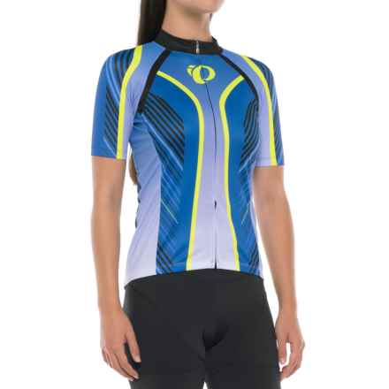 Pearl Izumi ELITE Pursuit LTD Cycling Jersey - Full Zip, Short Sleeve (For Women) in Dazzling Blue Whirl - Closeouts