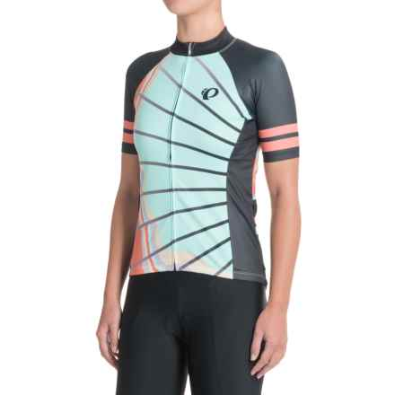 Pearl Izumi ELITE Pursuit LTD Cycling Jersey - Full Zip, Short Sleeve (For Women) in La Roue - Closeouts