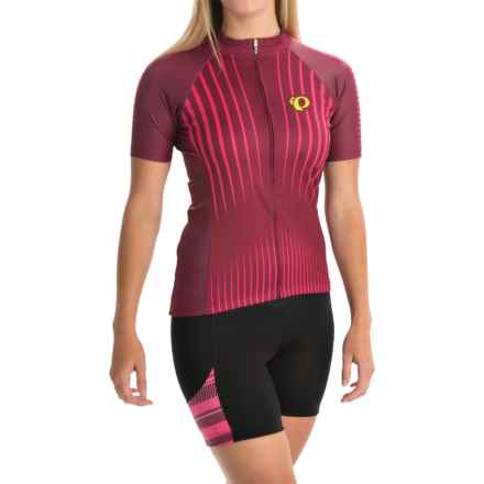 Pearl Izumi ELITE Pursuit LTD Cycling Jersey - Full Zip, Short Sleeve (For Women) in Radiating Rouge Red - Closeouts