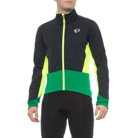 Pearl Izumi ELITE Pursuit Soft Shell Cycling Jacket (For Men) in Black/Pepper Green