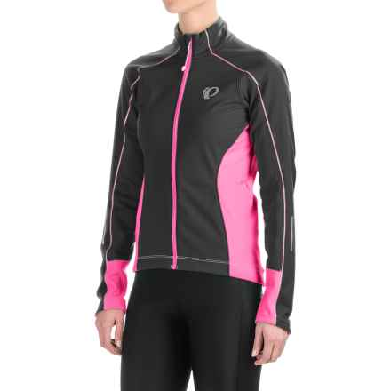Pearl Izumi ELITE Pursuit Soft Shell Jacket (For Women) in Black/Screaming Pink - Closeouts