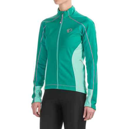Pearl Izumi ELITE Pursuit Soft Shell Jacket (For Women) in Dynasty Green/Aqua Mint - Closeouts