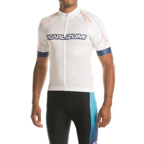 Pearl Izumi ELITE Pursuit Summer Cycling Jersey - Short Sleeve (For Men) in White / Bel Air Blue Rush