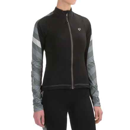 Pearl Izumi ELITE Pursuit Thermal Cycling Jersey - Long Sleeve (For Women) in Black Stripe - Closeouts