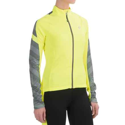 Pearl Izumi ELITE Pursuit Thermal Cycling Jersey - Long Sleeve (For Women) in Screaming Yellow Stripe - Closeouts