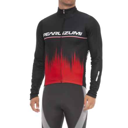 Pearl Izumi ELITE Pursuit Thermal Graphic Cycling Jersey - Full Zip, Long Sleeve (For Men) in True Red Rush - Closeouts