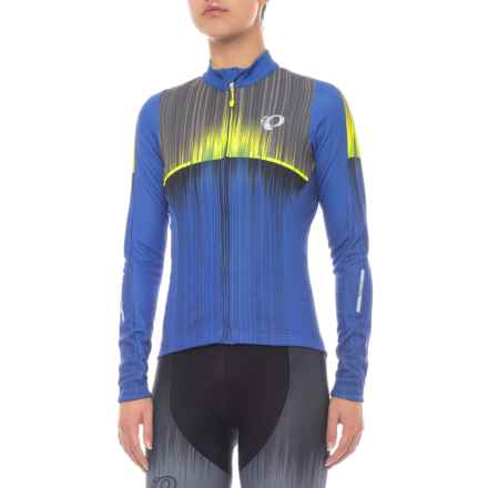 Pearl Izumi Elite Pursuit Thermal Graphic Jersey - Long Sleeve (For Women) in Vaporize Dazzling Blue - Closeouts