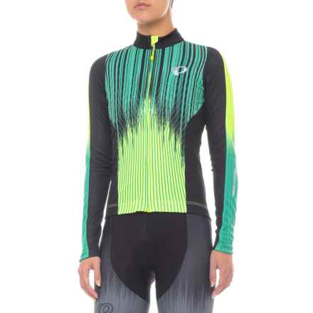 Pearl Izumi Elite Pursuit Thermal Graphic Jersey - Long Sleeve (For Women) in Verve Screaming Yellow - Closeouts