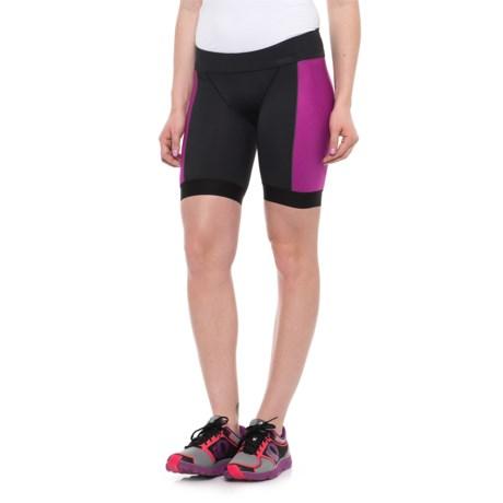 "Pearl Izumi ELITE Pursuit Tri Shorts - 7"" (For Women) in Black/Purple Wine"