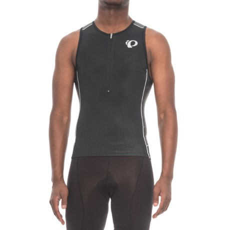 Pearl Izumi ELITE Pursuit Triathlon Singlet - Zip Neck, Sleeveless (For Men) in Black