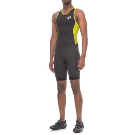 Pearl Izumi ELITE Pursuit Triathlon Suit - Sleeveless (For Men) in Black/Lime Punch - Closeouts
