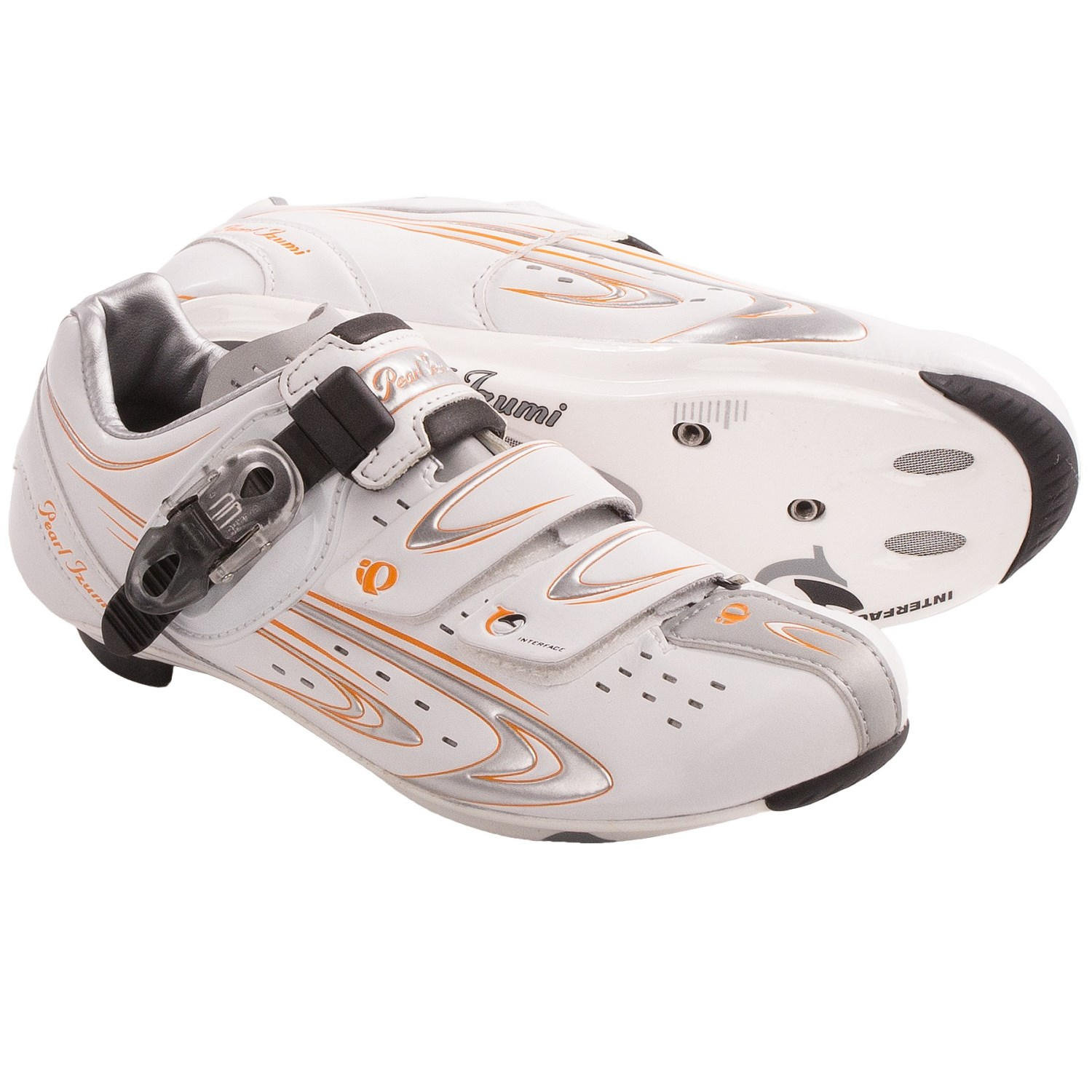Izumi ELITE RD III Cycling Shoes - 3-Hole (For Women) in White/Silver