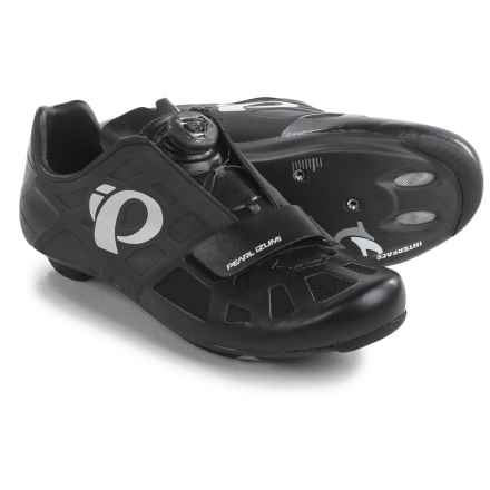 Pearl Izumi ELITE Road IV Cycling Shoes - 3-Hole (For Men) in Black/Black - Closeouts