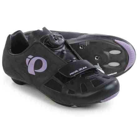 Pearl Izumi ELITE Road IV Cycling Shoes - 3-Hole (For Women) in Black/Purple Haze - Closeouts
