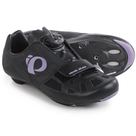 Pearl Izumi ELITE Road IV Cycling Shoes - 3-Hole (For Women) in Black/Purple Haze