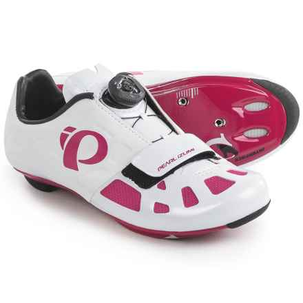 Pearl Izumi ELITE Road IV Cycling Shoes - 3-Hole (For Women) in White/Pink Punch - Closeouts
