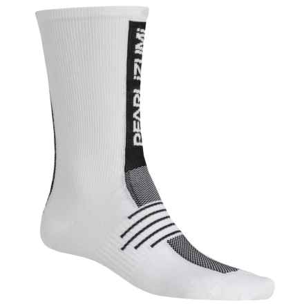 Pearl Izumi ELITE Run Socks - Crew (For Men) in White - Closeouts