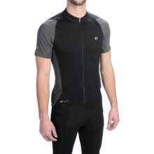 Pearl Izumi ELITE Semi-Form Cycling Jersey - Full Zip, Short Sleeve (For Men) in Black/Shadow Grey - Closeouts